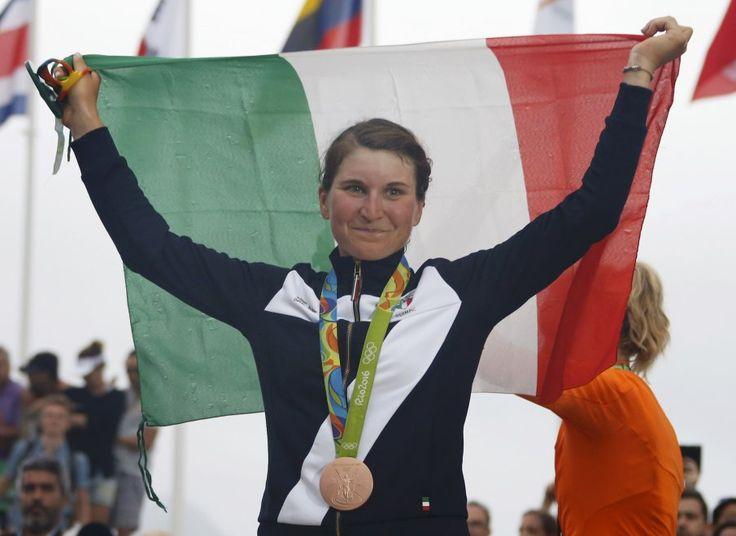 Elisa Longo Borghini, medaglia di bronzo nel ciclismo su strada femminile.