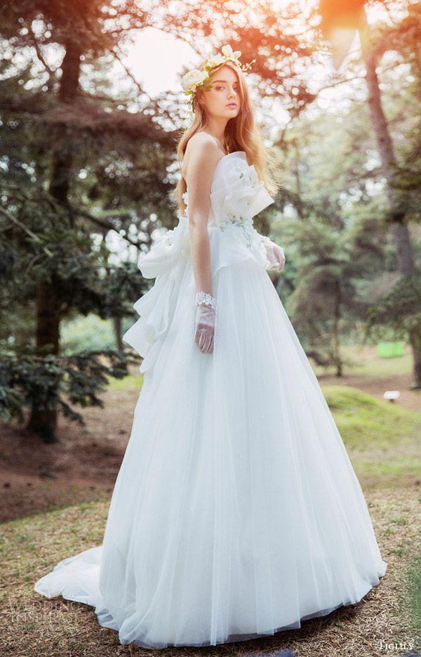 tiglily bridal 2016 strapless crumbcatcher ball gown wedding dress (dora) mv romantic princess -- Tiglily Spring 2016 Wedding Dresses