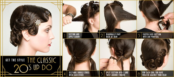 Classic 20's up do #20s #hair #greatgatsby