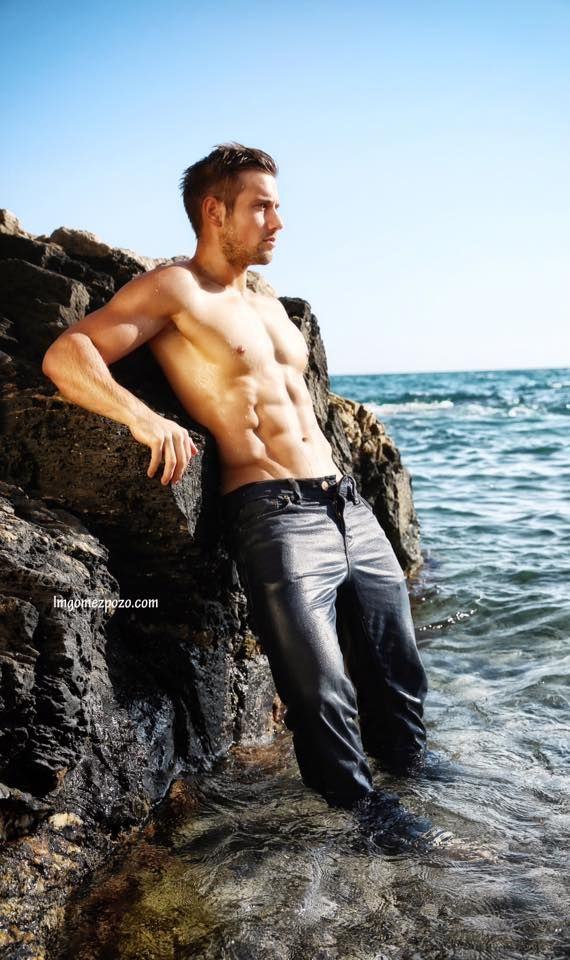 men in wet jeans