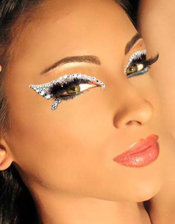 angel costume eye makeup rhinestoned - Google Search