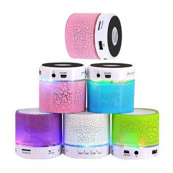 Hot BS008 Lymoc LED MINI Speaker Bluetooth Sem Fio Portátil TF USB Speaker Música Caixa de Som Subwoofer Alto-falantes Para O telefone PC