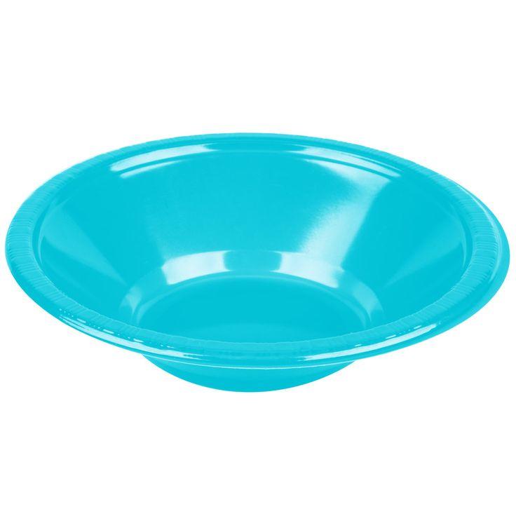 Turkis plastik skål. Alt i billig engangsservice og festartikler til børn og voksne.