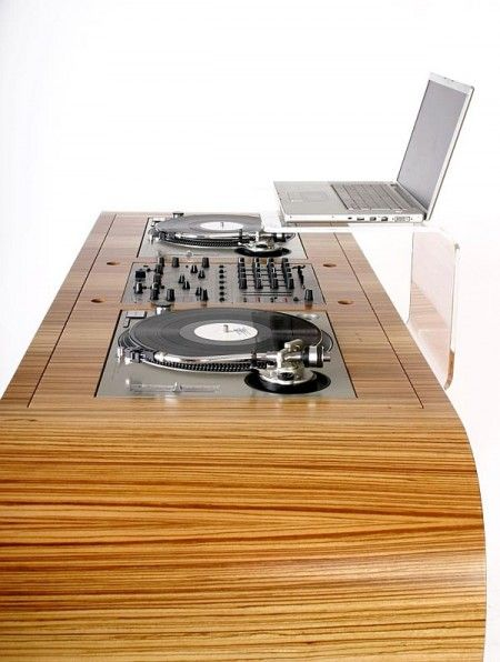 Hoerboard table de mixage design platines vinyles et meuble dj - Table de mixage de david guetta ...