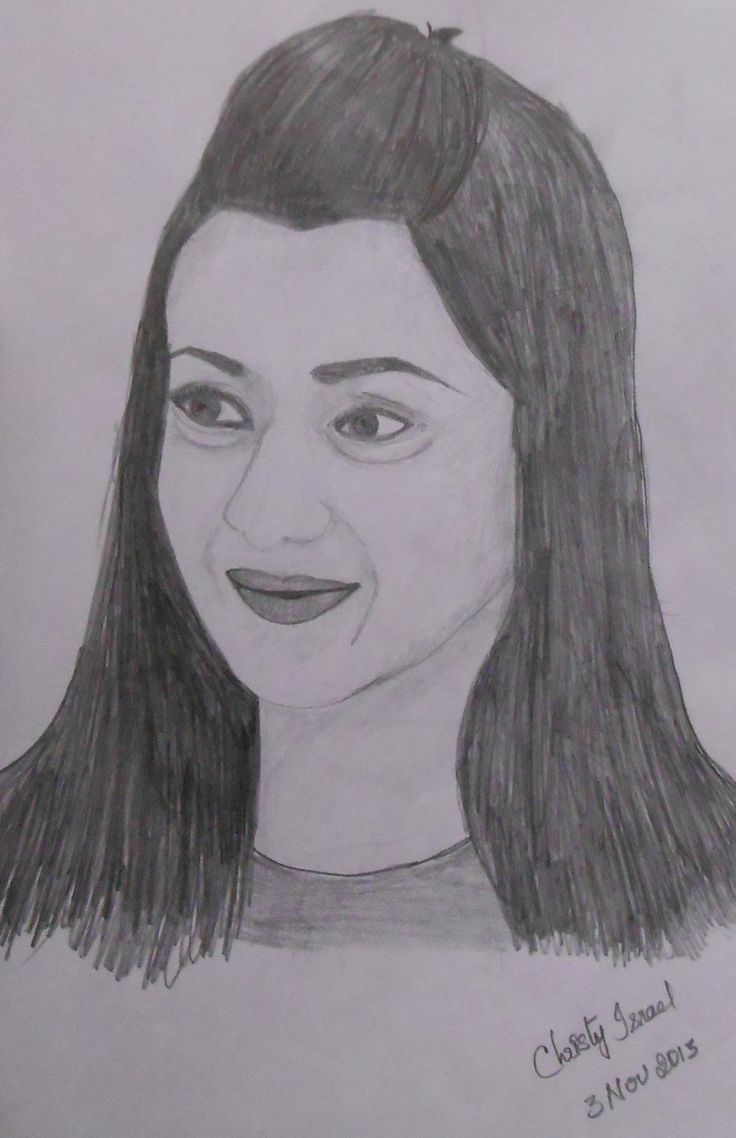 Trisha Krishnan - Pencil Drawing