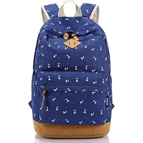 Student School Backpack College Bags Laptop 14''Bag for Girls - Deer Navy Blue #StudentSchoolBackpackCollegeBags