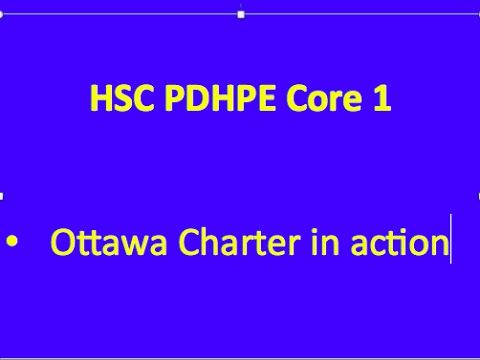 HSC PDHPE Core 1. Ottawa Charter in action - YouTube