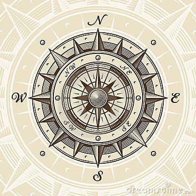 Vintage compass I am the captain of my fate I am the master of my soul