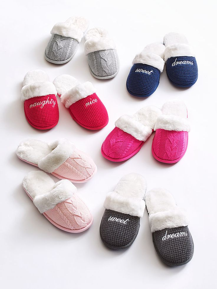That whole slip-into-something-more-comfortable thing just got REAL with faux fur. | Victoria's Secret The Cozy Slipper