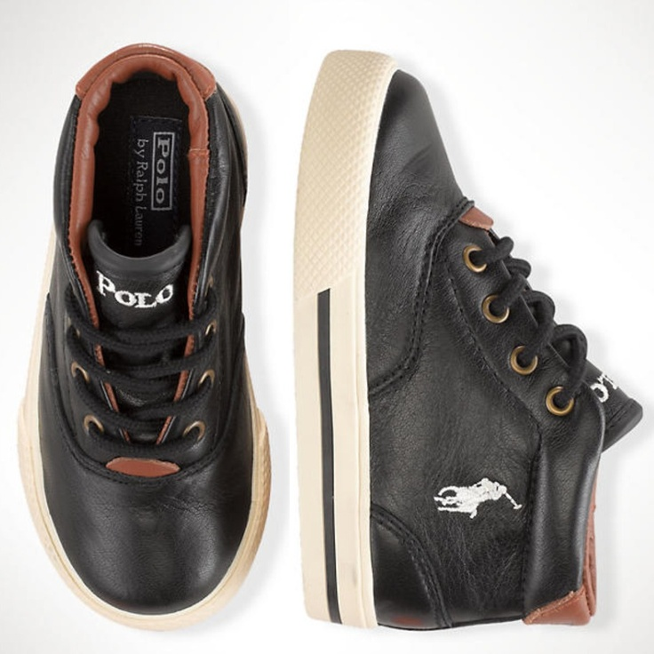 Ralph Lauren Toddler Zale Leather Sneaker Shoes
