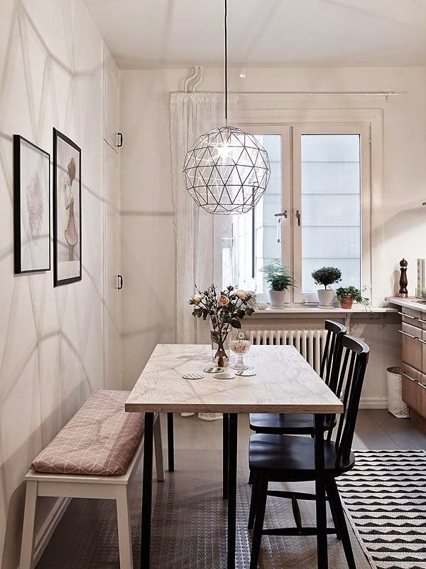 Michelle - Blog #Bench in #Dining #Room Fonte : http://residencestyle.com/dining-room-decorating-ideas-inspiration/