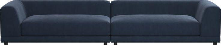 uno 2-piece sectional sofa (Velvet)
