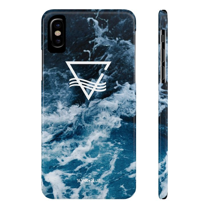 Blank & Blue Waves Icon Phone Case - Slim (iPhone & Samsung)