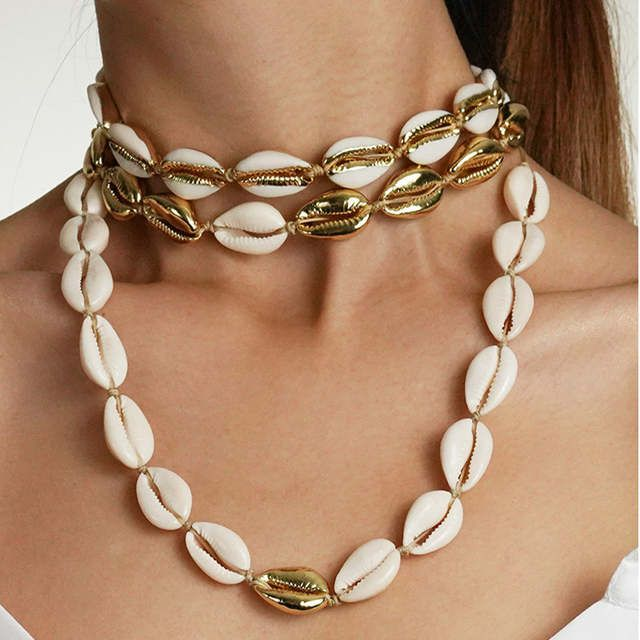 Pin By Hasti Khezri On Products You Tagged Cowrie Shell Necklace Sweetheart Necklaces Shell Necklaces