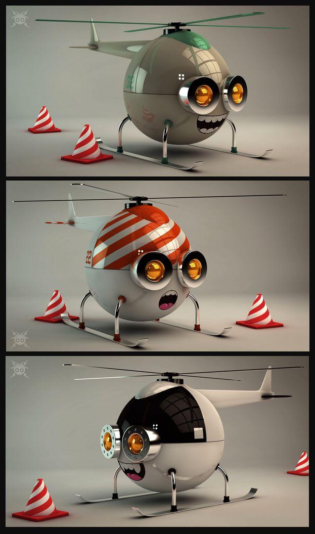 Sky Trippers | 3D art by Matías Petroli | Tools used: Cinema 4D, Illustrator, Photoshop