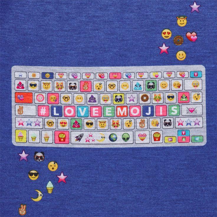 Girls Short Raglan Sleeve Emoji Keyboard Top And Printed Pants PJ Set | The Children's Place