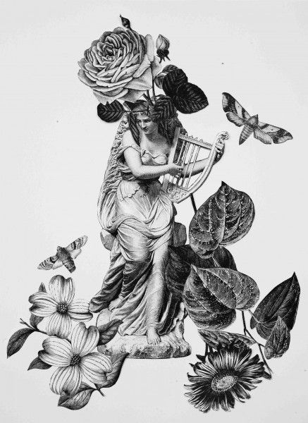 KINGS Title: Untitled - 2014 Collage on paper  Size: 25x23cm  Unique piece