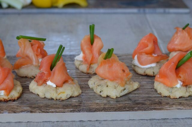 Smoked Salmon on a Lemon Rosemary Button