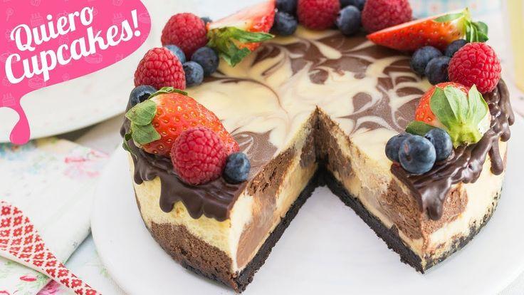 CHEESECAKE MARMOLADO | Chocolate blanco y negro | Quiero Cupcakes!