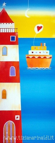 Have a nice day! -  by Tiziana Rinaldi #lighthouse #painting #art