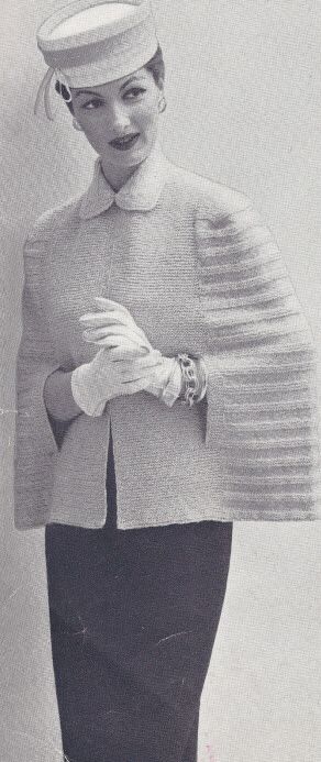 Vintage Cape Coat Knitting Pattern
