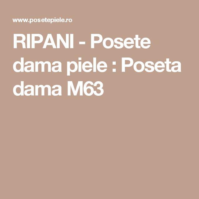 RIPANI - Posete dama piele : Poseta dama M63
