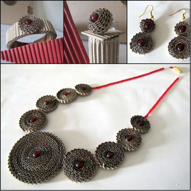 I have made this corrugated jewelry. Please visit and vote if you like