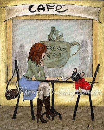 French Bulldog et Francais impresión del por frenchbulldogworks