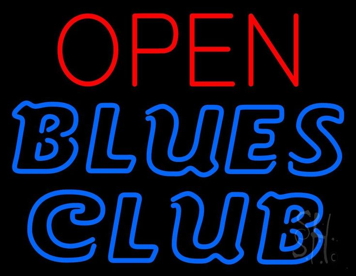 Blues Club Red Open Neon Sign 24 Tall x 31 Wide x 3 Deep, is 100% Handcrafted with Real Glass Tube Neon Sign. !!! Made in USA !!!  Colors on the sign are Red and Blue. Blues Club Red Open Neon Sign is high impact, eye catching, real glass tube neon sign. This characteristic glow can attract customers like nothing else, virtually burning your identity into the minds of potential and future customers.
