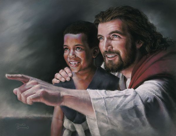 Artist Paints Jesus With His Hands