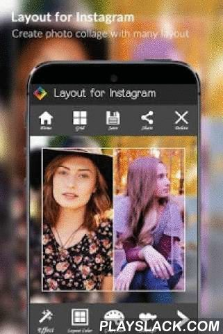 Layout For Instagram  Android App - playslack.com , App let you design photos with many beautiful layout for Instagram from Limitless Dev. Remixing your own photos and sharing them with your friends.Import photo from your albums, choose layout for portrait or landscape images. App will auto divide photos into two part, one to make photo grid, one to make color gradient layout. Tap to change photo effect for layout.+ Crop photo to square size and edit photo for Instagram.+ Re-mix up to 6 of…