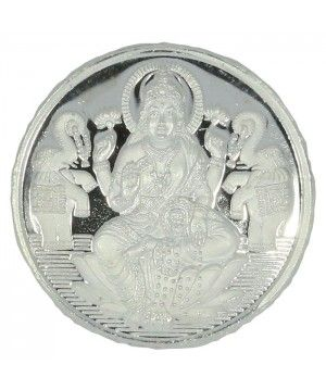 Buy Silver Coin online available @ lowest price. Lakshmi Religious white coin. 100% purity guaranteed. Free Singapore Shipping on ALL orders.""