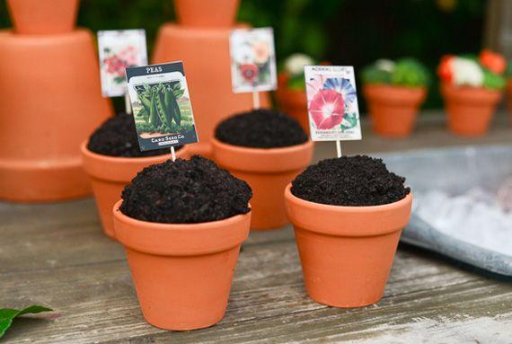 Garden cupcakes for a garden themed party
