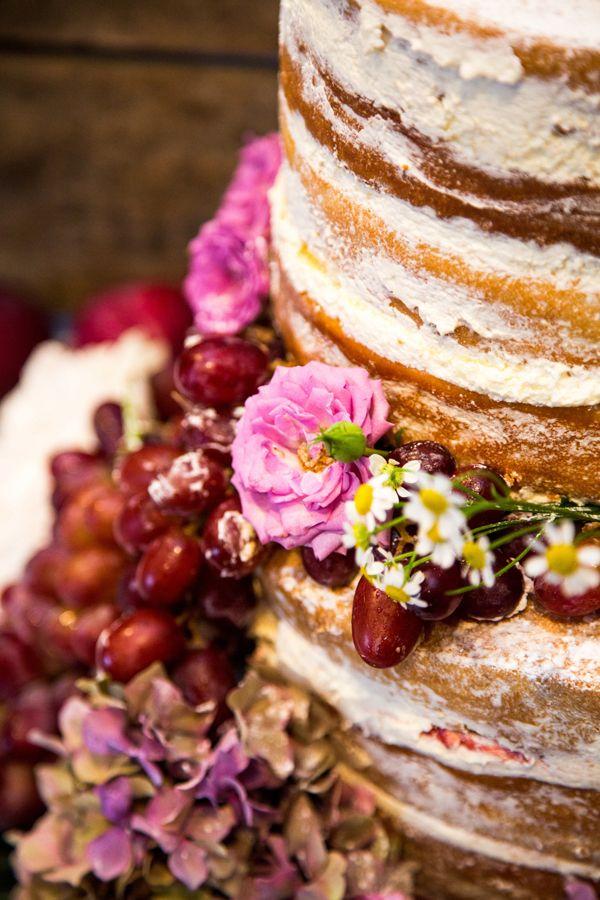 fruit flowers wedding cake Rustic Outdoorsy Wedding
