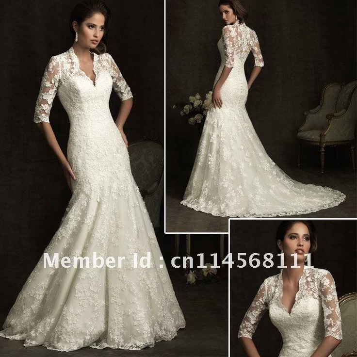 Image gallery spanish lace for Spanish lace wedding dress