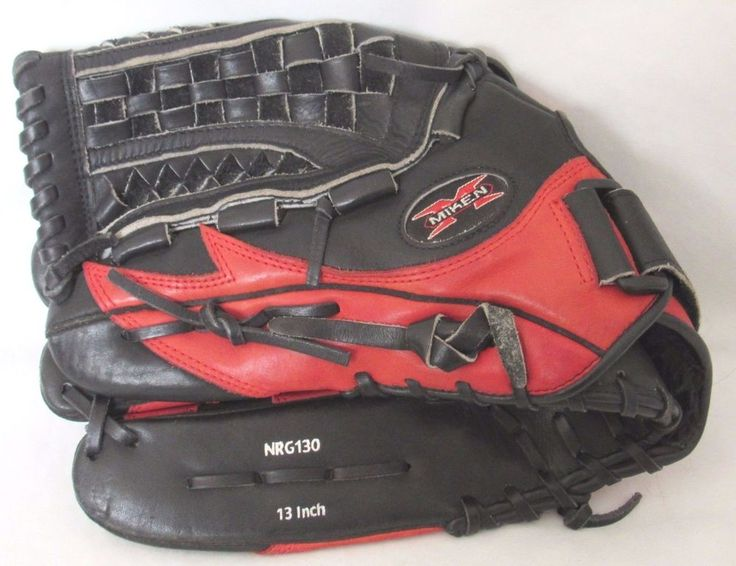 "Miken Pro Series NRG130 13"" Baseball Glove Black And Red Left Hand Thrower #Miken"