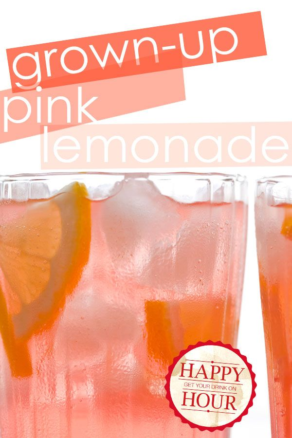 Grown-Up Pink Lemonade without all the calories