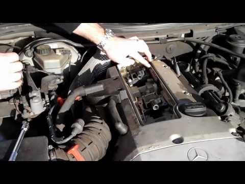 How to change spark plugs in a Mercedes SLK 230 (R170) - http://www.thehowto.info/how-to-change-spark-plugs-in-a-mercedes-slk-230-r170/