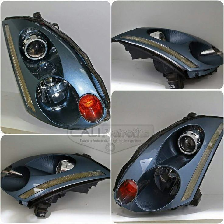 Infiniti G35 headlights color matched. Email sales@caliretrofits ...