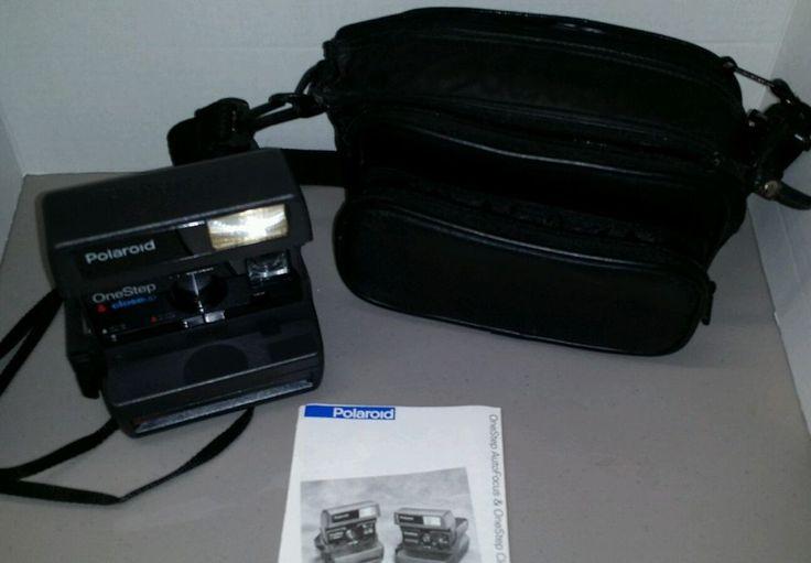 Polaroid One Step Close Up instant camera works 7 exposures film+ bag  #Polaroid