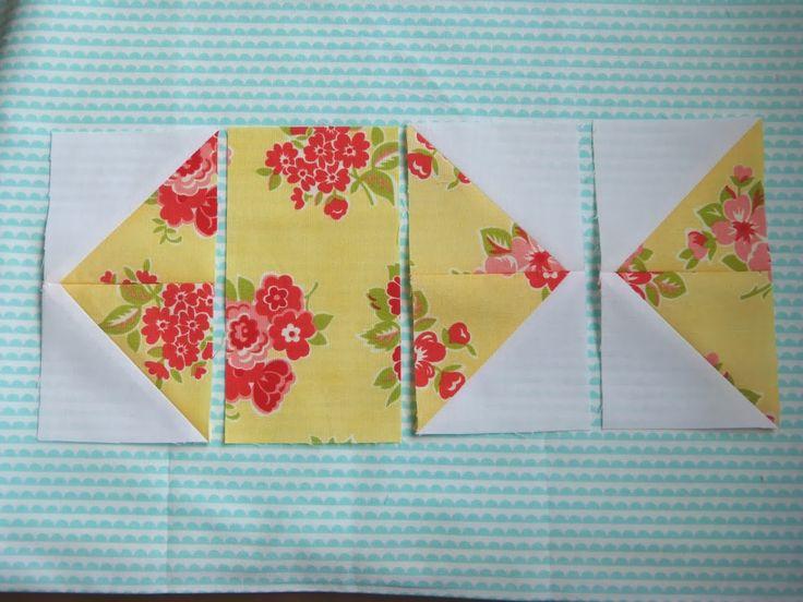 Pretty Little Quilts: Summer Beach Quilt Tutorial Part I - Fish Block