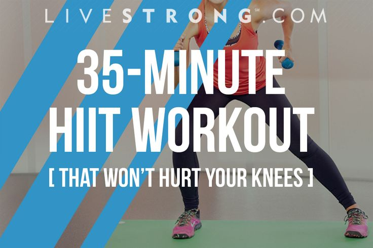 A 35-Minute HIIT Workout That Won't Hurt Your Knees