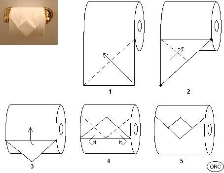 Guest Bath - Toilet Paper Origami