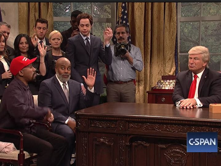 Snl Mocks Trump S Meeting With Kanye West In Oval Office Kanye West
