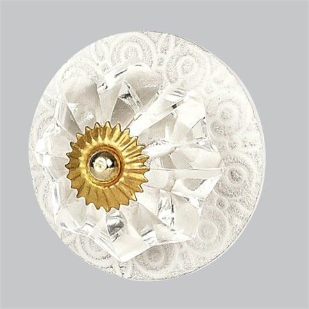 vintage circle crystal knob