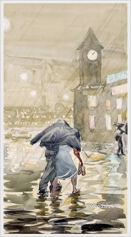 Пискарева Анна Николаевна (Россия, 1934) «Летний дождь»