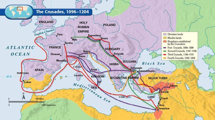 Battle of the Crusades Map   The Crusades, 1096-1204