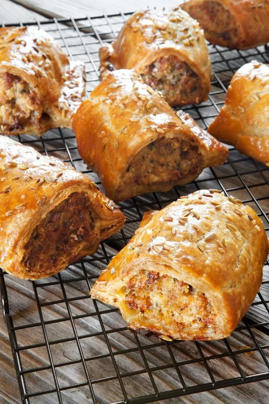 Beautiful English Pork Sausage Rolls courtesy of Gill Meller of River Cottage