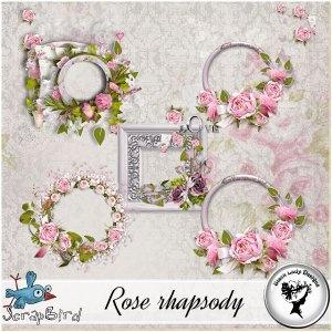 Rose rhapsody - Clusters by Black Lady Designs