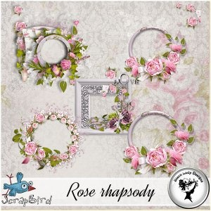 Rose rhapsody - Clusters by Black Lady Designs